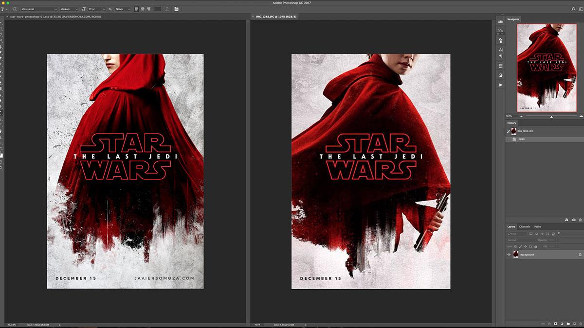 Star Wars en Photoshop: Reproducción del nuevo póster - JAVIER SOMOZA
